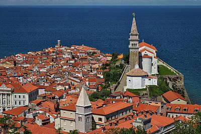 Above Piran - Slovenia Poster