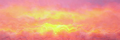 Above The Clouds - Abstract Art Poster by Jaison Cianelli