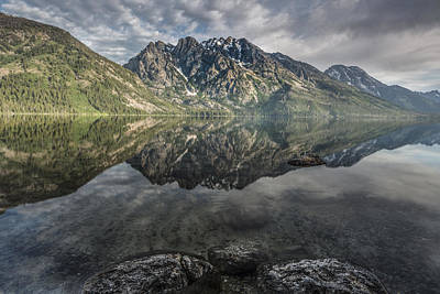 Above The Lake Poster by Jon Glaser