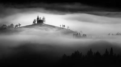 Above The Mist Poster by Sandi Bertoncelj