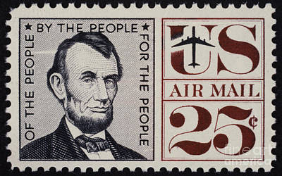 Abraham Lincoln (1809-1865). 16th President Of The United States. On A U.s. Postage Stamp, 1960 Poster by Granger