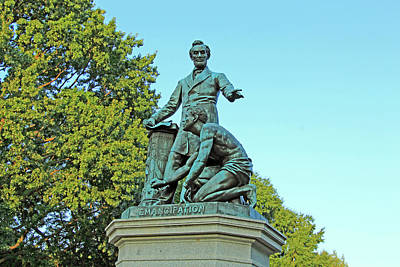 Abraham Lincoln Freeing A Slave At The Emancipation Memorial -- 2 Poster