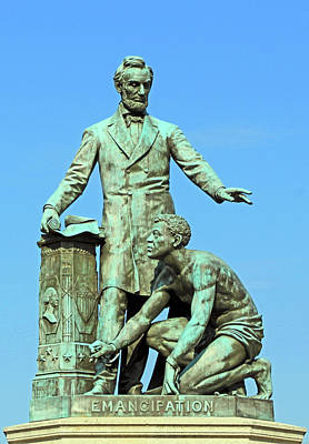 Abraham Lincoln Freeing A Slave At The Emancipation Memorial -- 3 Poster