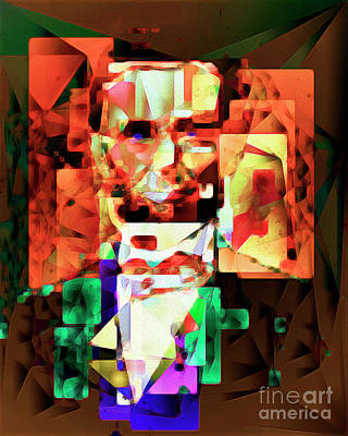 Abraham Lincoln In Abstract Cubism 20170327 Poster by Wingsdomain Art and Photography