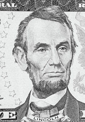 Poster featuring the photograph Abraham Lincoln by Les Cunliffe