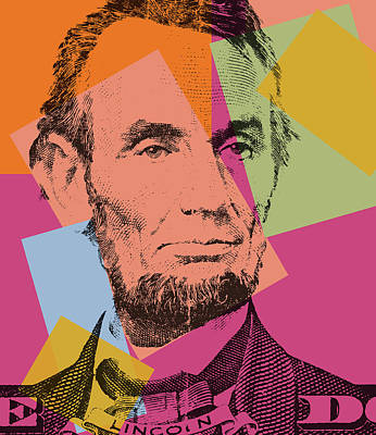 Abraham Lincoln Pop Art Poster by Dan Sproul