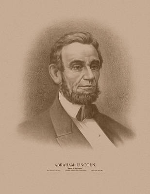Abraham Lincoln - Savior Of His Country Poster by War Is Hell Store