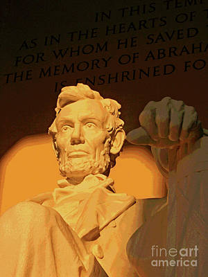 Abraham Lincoln Sunrise Poster