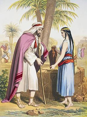 Abraham S Servant Eliezer And Rebekah Poster