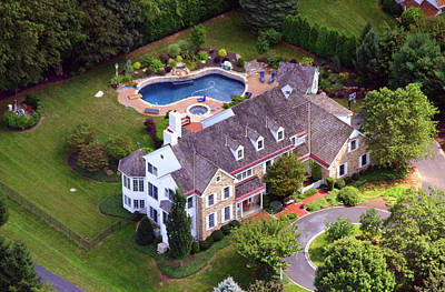 Abrahams Circle Home Villanova Pennsylvania Poster by Duncan Pearson