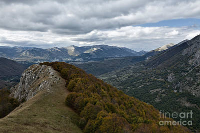 Abruzzo National Park From The Top Of The Mountain Poster