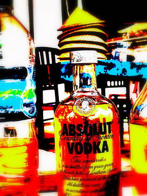 Absolut Gasoline Refills For Bali Bikes Poster by Funkpix Photo Hunter