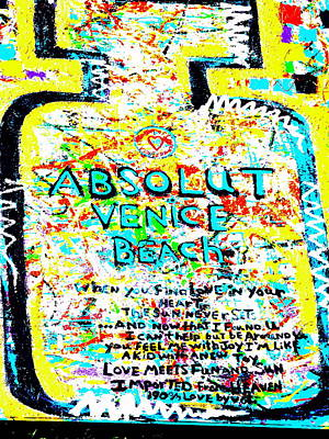 Absolut Venice Beach Poster by Funkpix Photo Hunter