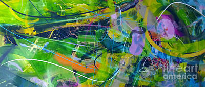 Poster featuring the painting Abstract # 12015 by Robert Anderson
