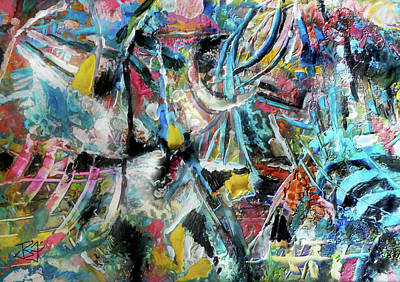 Abstract 301 - Encaustic Poster