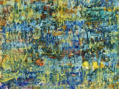 Poster featuring the painting Abstract #329 by Robert Anderson