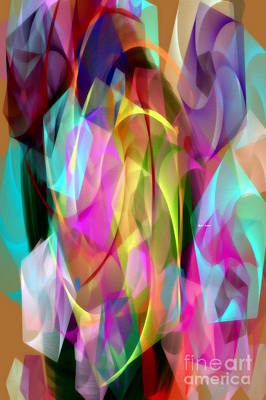 Poster featuring the digital art Abstract 3366 by Rafael Salazar