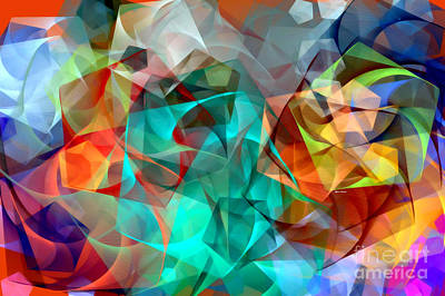 Poster featuring the digital art Abstract 3540 by Rafael Salazar