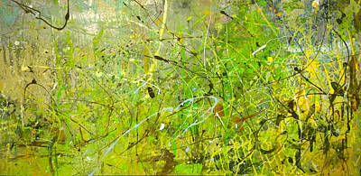 Poster featuring the painting Abstract #42515b Or Marsh Life by Robert Anderson