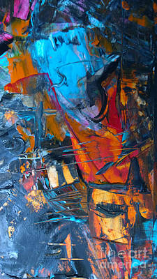 Poster featuring the painting Abstract #42715b by Robert Anderson
