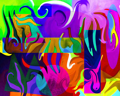 Poster featuring the digital art Abstract 7d by Timothy Bulone