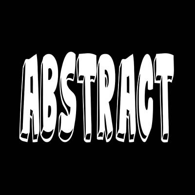 Abstract One Word Quotes Symbolic Art Quotes  Poster