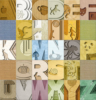 Abstract Alphabet Quilt Poster