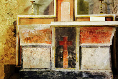 Poster featuring the photograph Abstract Altar by Rasma Bertz