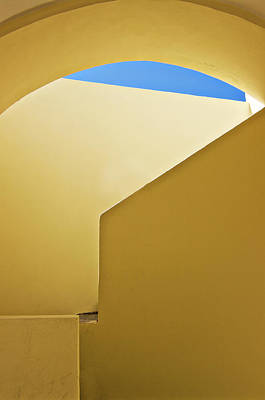 Abstract Architecture In Yellow Poster