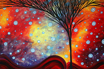 Abstract Art Whimsical Landscape Painting Morning Bliss By Madart Poster by Megan Duncanson