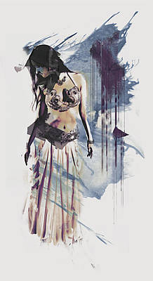 Abstract Bellydancer Poster