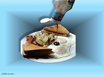 Abstract Breakfast Poster