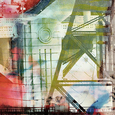 Abstract Bridge With Color Poster