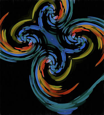 Abstract Butterfly Effect Poster by Dan Sproul