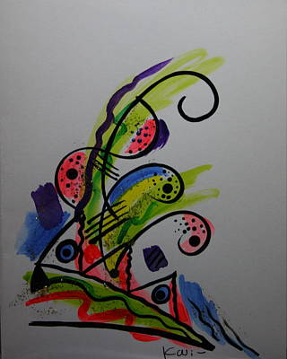 Poster featuring the greeting card Abstract Card 1 by Karin Eisermann