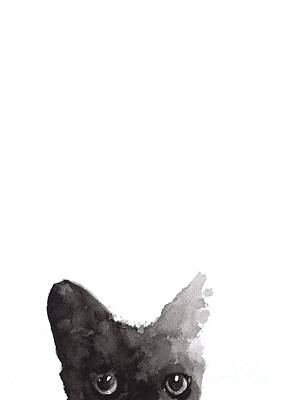 Abstract Cat Art Print Watercolor Painting Poster