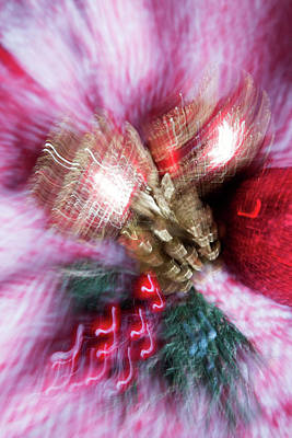 Poster featuring the photograph Abstract Christmas 5 by Rebecca Cozart