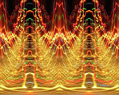 Abstract Christmas Lights #175 Poster