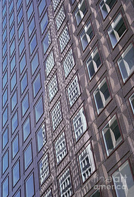 abstract cities architecture photograph - Glass Grid Poster