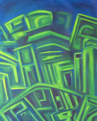 Abstract Cityscape Series IIi Poster by Patricia Cleasby