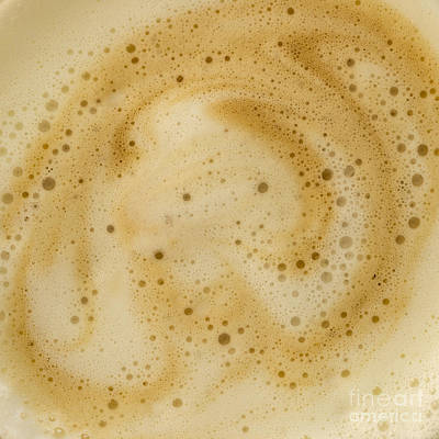 Poster featuring the photograph Abstract Coffee by Brian Roscorla