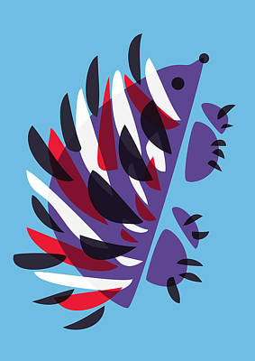 Abstract Colorful Hedgehog Poster