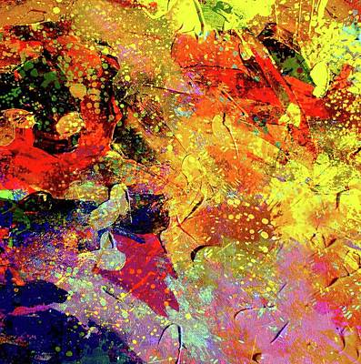 Poster featuring the painting Abstract Composition  by Samiran Sarkar