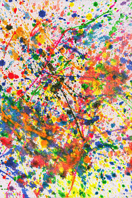 Abstract - Crayon - Mardi Gras Poster by Mike Savad