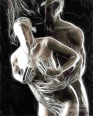 Abstract Digital Artwork Of A Couple Making Love Poster by Oleksiy Maksymenko