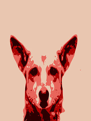 Abstract Dog Contours Poster