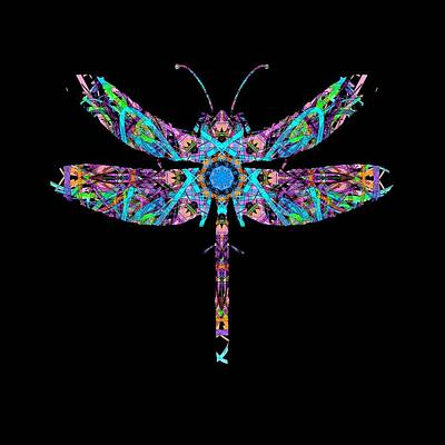 Abstract Dragonfly Poster