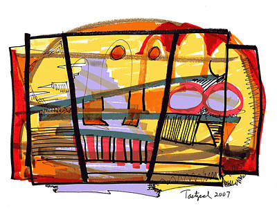 Abstract Drawing Sixty-seven Poster by Lynne Taetzsch
