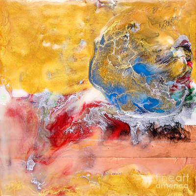 Abstract Encaustic Painting Poster