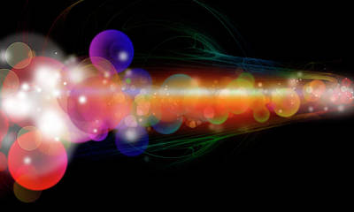 Abstract Energy 1 Poster by Les Cunliffe